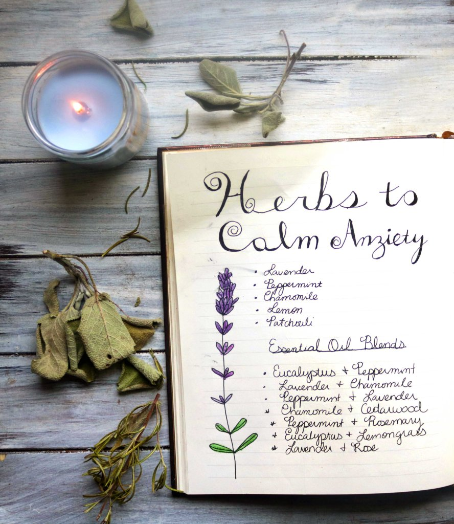 List of herbs to calm anxiety and stress.