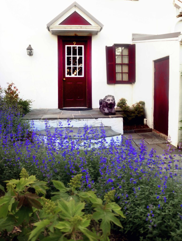 English garden at the Red Fox Inn in Middleburg, Virginia.