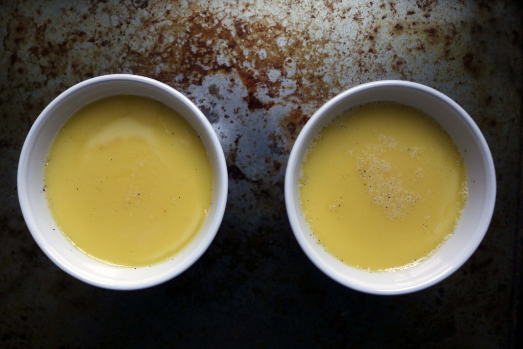 Creamy rich custard fresh out of the oven.