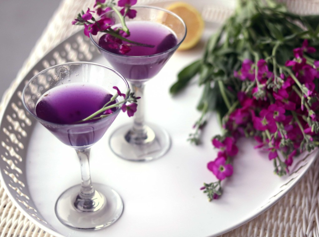 Classy, elegant and totally feminine, this purple fairy martini is perfect for Easter, Ostara, a spring brunch or bridal shower.