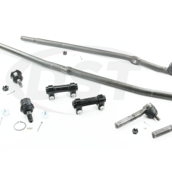 moog packagedeal105 front end steering rebuild package kit 1st design steering linkage  [ 1200 x 900 Pixel ]