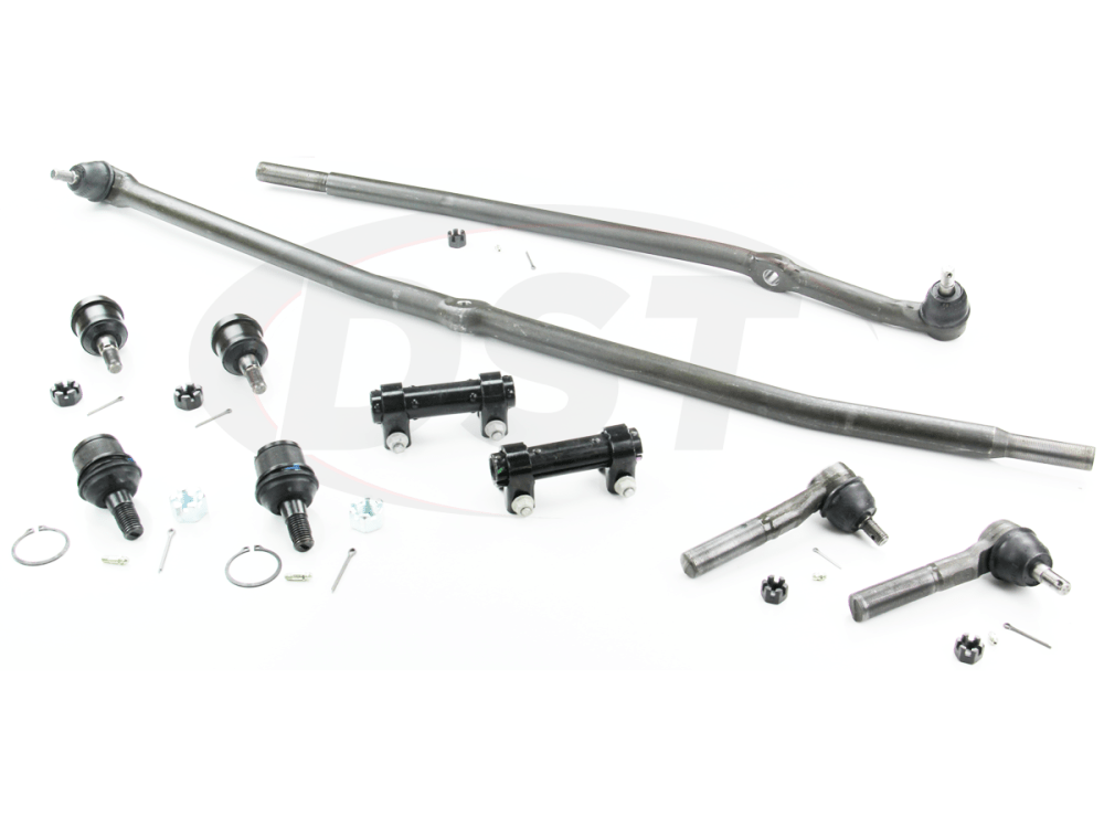 medium resolution of moog packagedeal105 front end steering rebuild package kit 1st design steering linkage