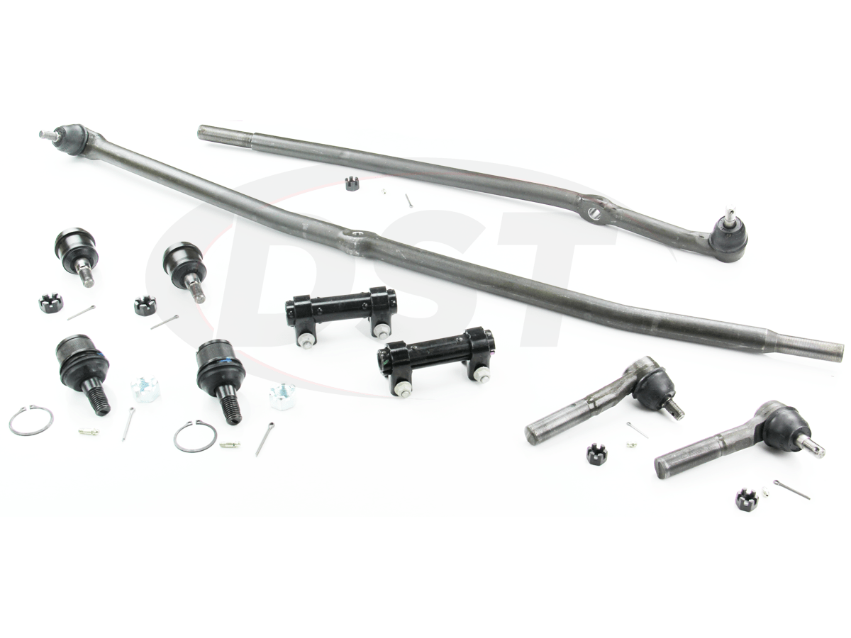 hight resolution of moog packagedeal105 front end steering rebuild package kit 1st design steering linkage