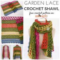 Garden Lace Shawl - Free #Crochet Pattern on Moogly