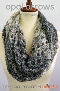 Opal Arrows Infinity Scarf - Free #Crochet Pattern on Moogly!
