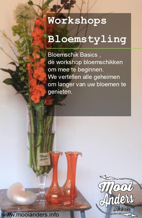 workshop bloemschikken bloemstyling mooi anders bloemen