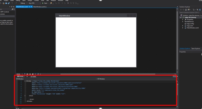 mooict wpf c# sniper the dummy game xaml window code default