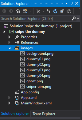 mooict wpf c# snipe the dummy game - image implementation completed