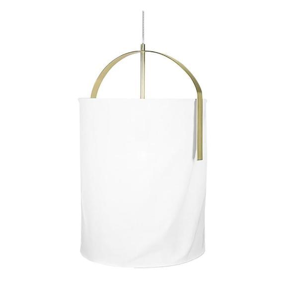 Льняной подвесной светильник