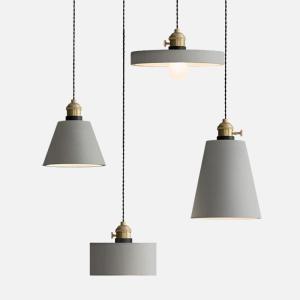 Concrete Vasa Minimalist Pendant Light