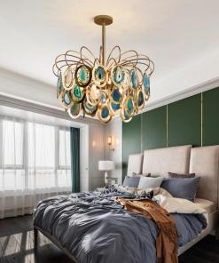 Luxury pendant Slice agate chandelier