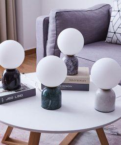 Marmor bordslampa