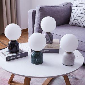 Marmeren tafellamp