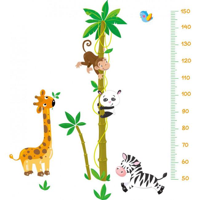 Muurstickers  Lengtemeter Bamboe Dieren