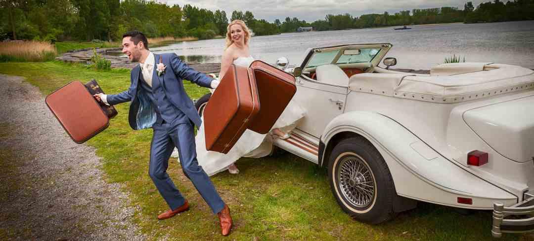 fotoshoot bruidspaar Haarlemmermeerse Bos