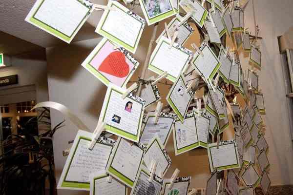 gastenboek kaarten ophangen kaartjes trouwen bruiloft trouwdag
