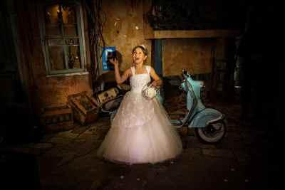 kinderen bruidsfoto trouwdag bruiloft