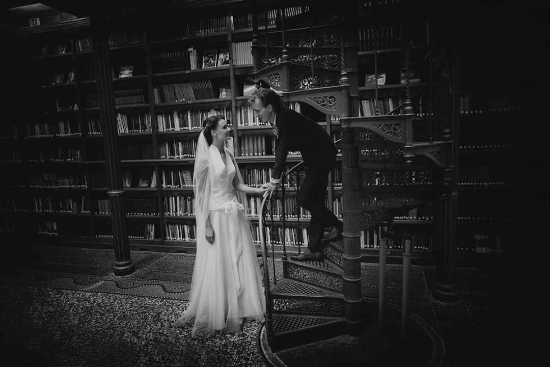 bibliotheek bruidsfoto Rijksmuseum