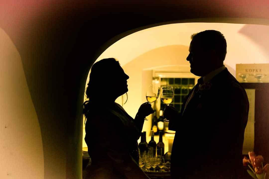 bruidspaar silhouet
