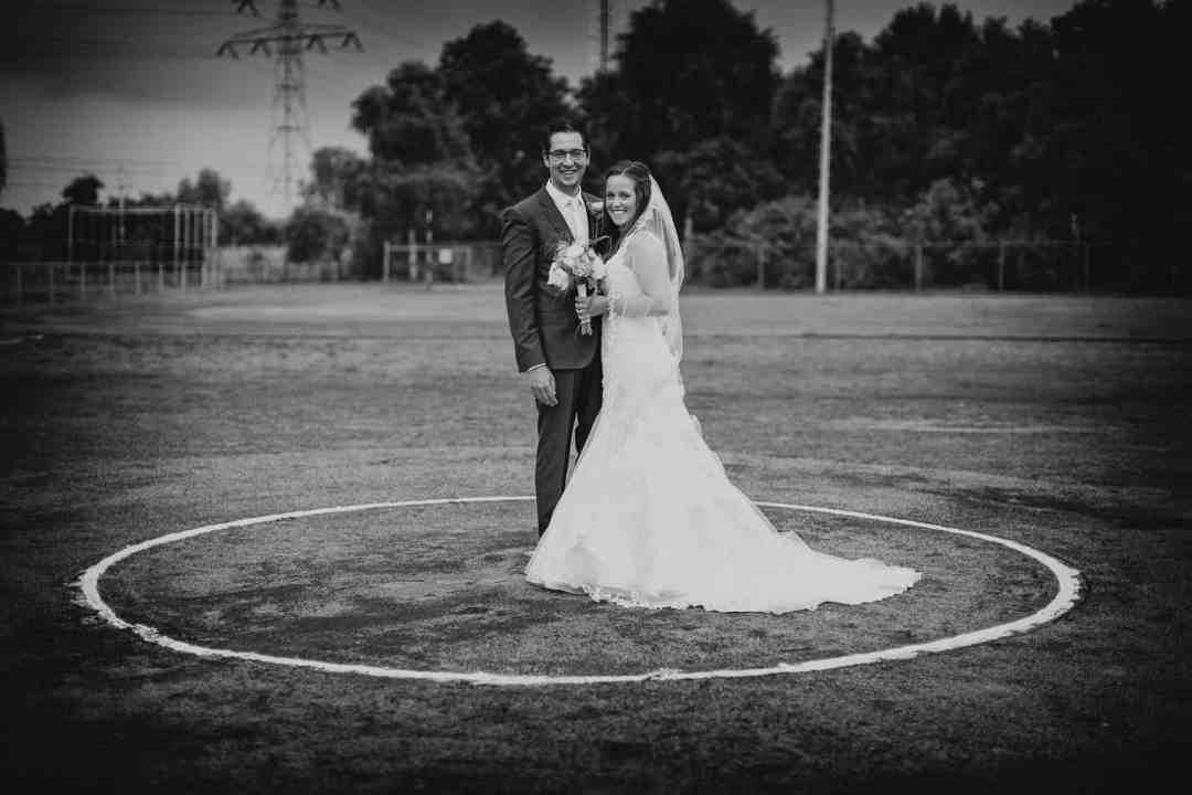 bruidsfotografie sport bruidspaar trouwfoto