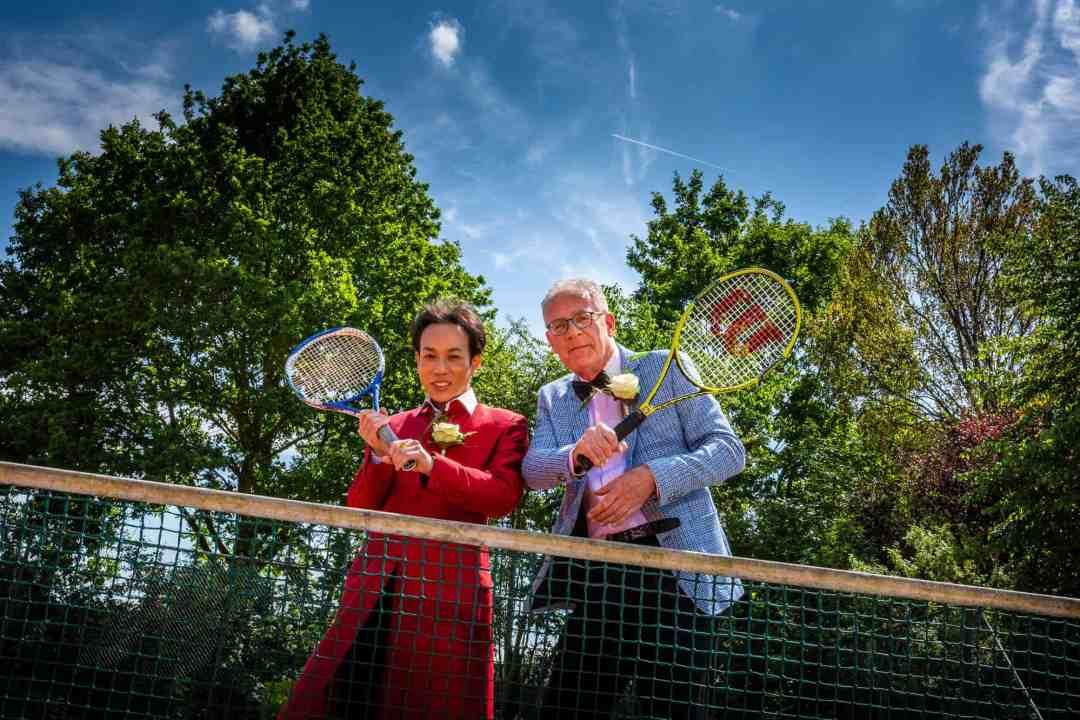 bruidsfotografie tennisbaan
