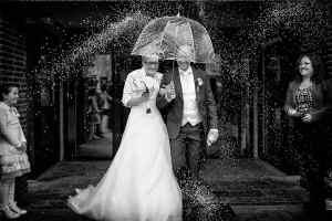 rijst gooien trouwdag