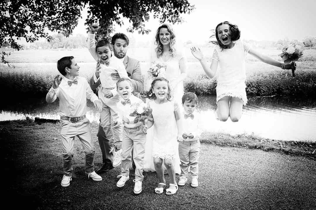 Bruidsfotograaf groepsfoto
