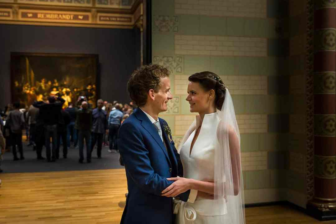 bruidsfoto Rijksmuseum