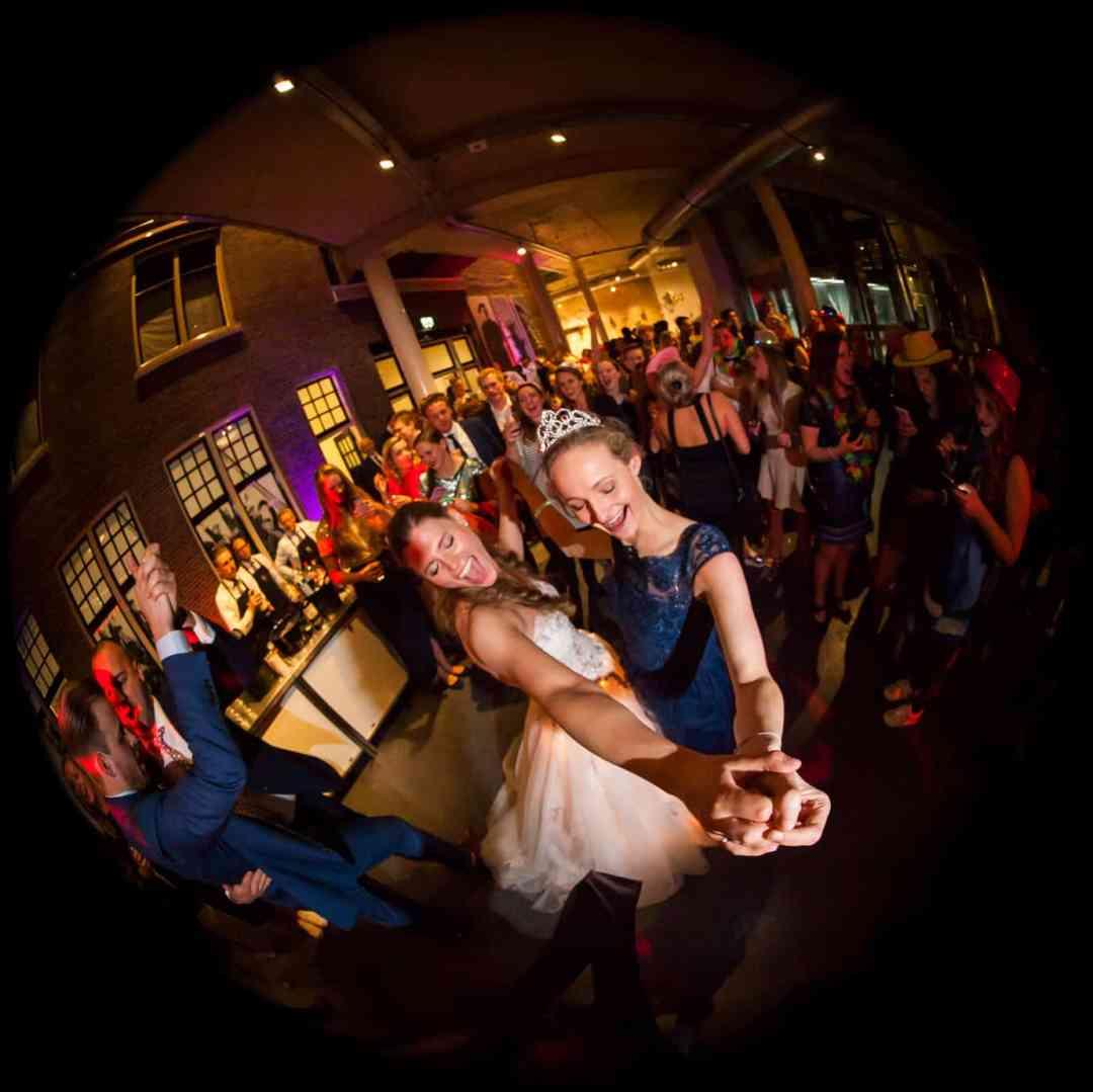 feestavond bruidsfotografie