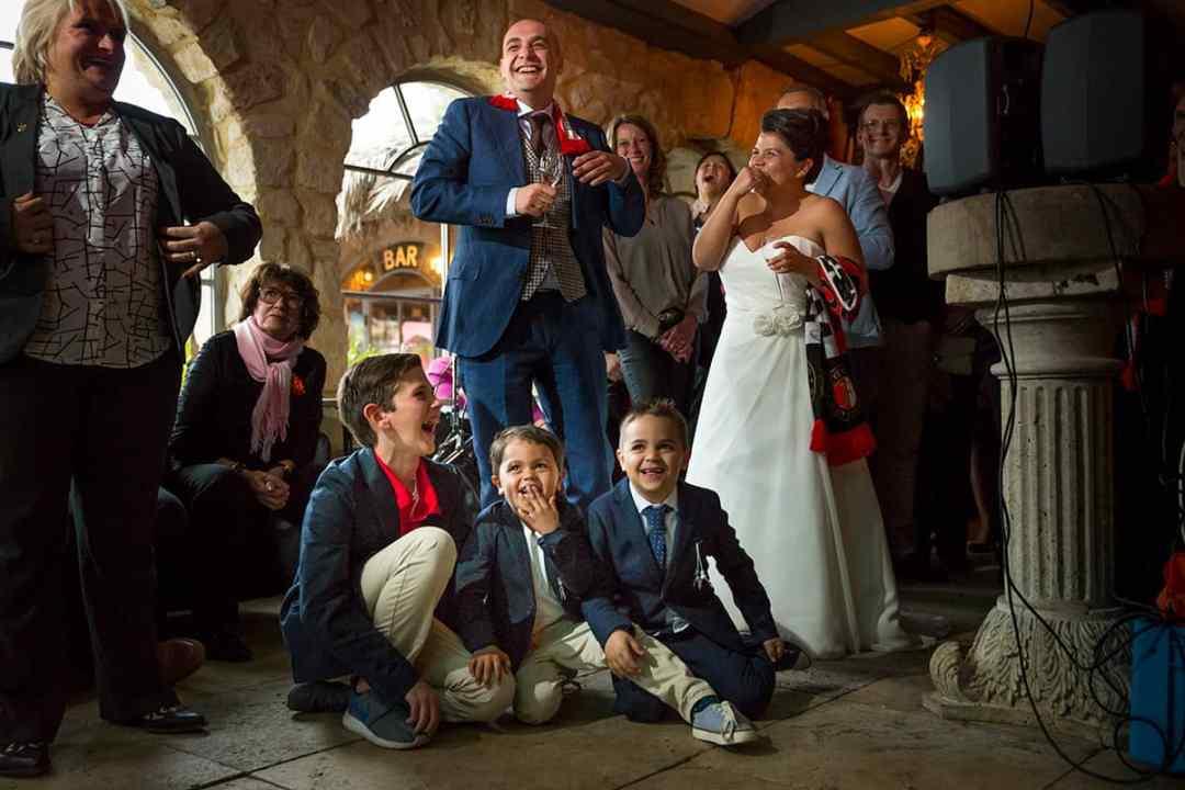 bruidsfotografie feest bruiloft