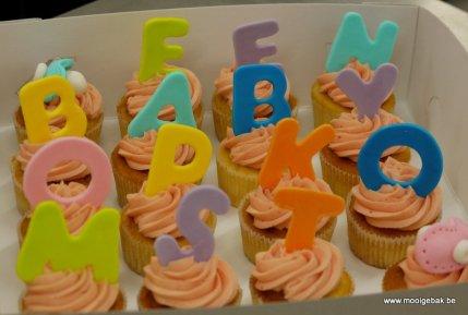 Een baby op komst - cupcakes