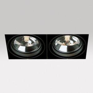 DeltaLight  Grid trimless 2 lichts qr AR111  Inbouwspot
