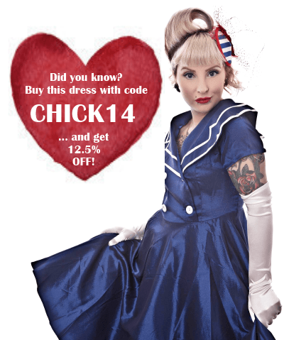 blue sailor dress  sc 1 st  Mookychick & Win This Cute Blue Vintage Sailor Swing Dress For Summer!