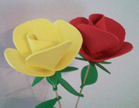 foam rose tutorial