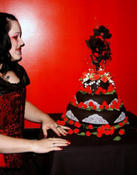 goth and gothic wedding