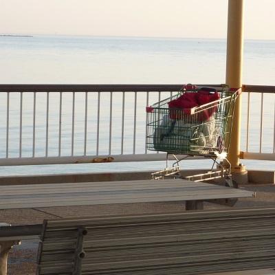 homeless shopping trolley