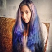 dye hair tips