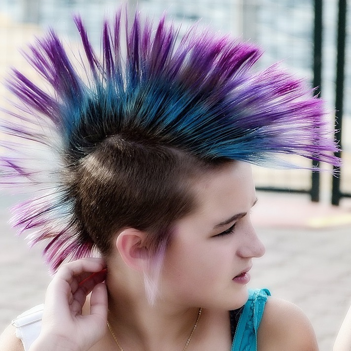 punk hair dye tips