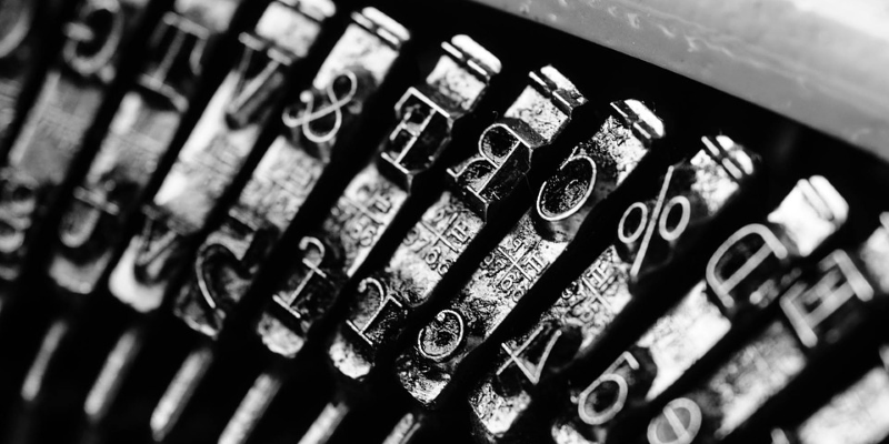 writing tips typewriter