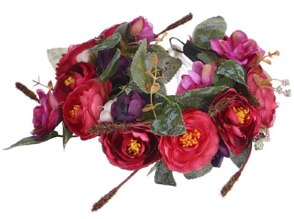 May Day floral wreath
