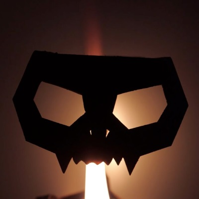 black cat witch halloween candle skeleton