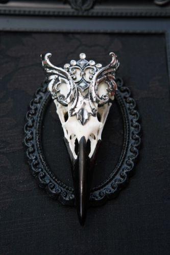 gothic christmas present bird skull