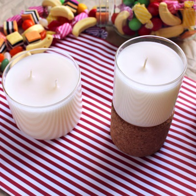 DIY soy candles lollipop scented