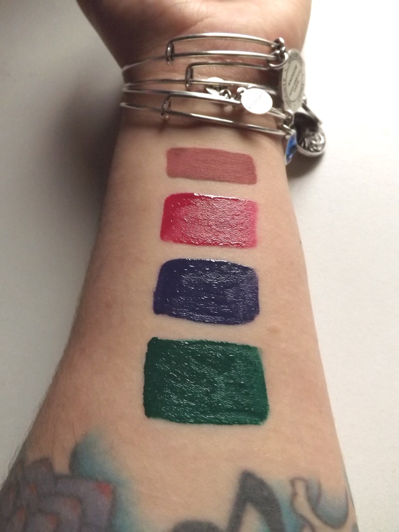 Lunatick lip slick swatches