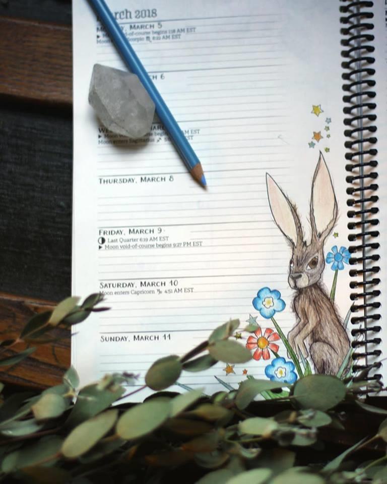 Coloring Book of Shadows Planner 2018 Ostara