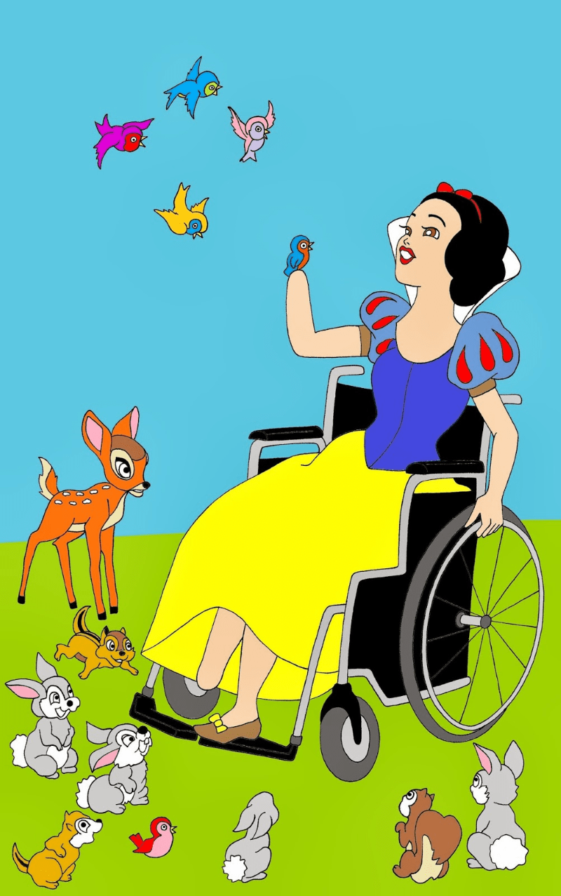 disabled snow white