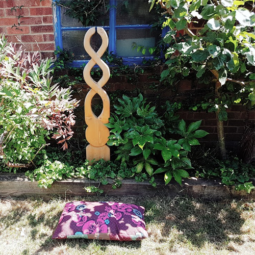 outdoor meditation space pillow