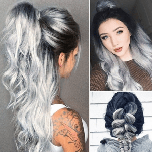 grey wig real style