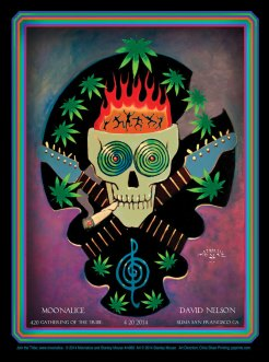 M680 › 4/20/14 420 Gathering of the Tribe at Slim's, San Francisco, CA poster by Stanley Mouse