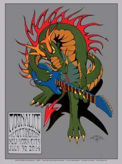 M730 › 7/30/14 The Cutting Room, New York, NY poster by Stanley Mouse